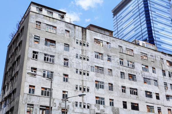 捨てられた 建物 香港 世界 生活 実行 ストックフォト © leungchopan