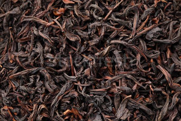 Chińczyk czarny herbaty tekstury charakter liści Zdjęcia stock © leungchopan