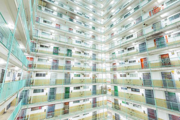Twin tower type building in Hong Kong Stock photo © leungchopan