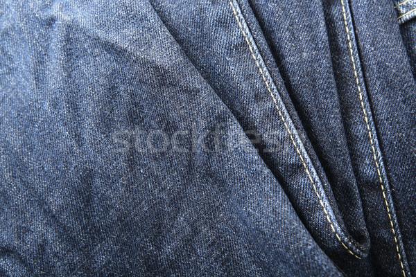 dark blue jeans background Stock photo © leungchopan