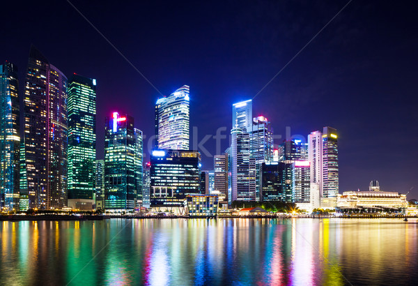 Stock photo: Singapore night