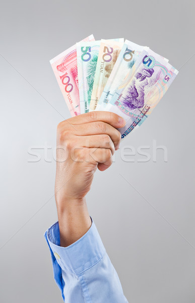 Businessman hand hold with chinese banknote Stock photo © leungchopan