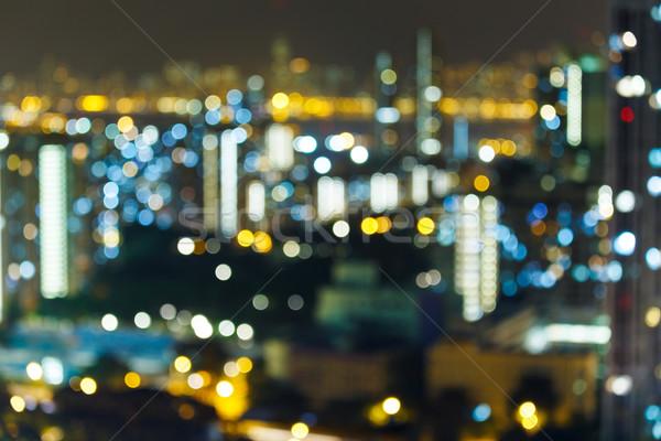 Blur of city at night Stock photo © leungchopan