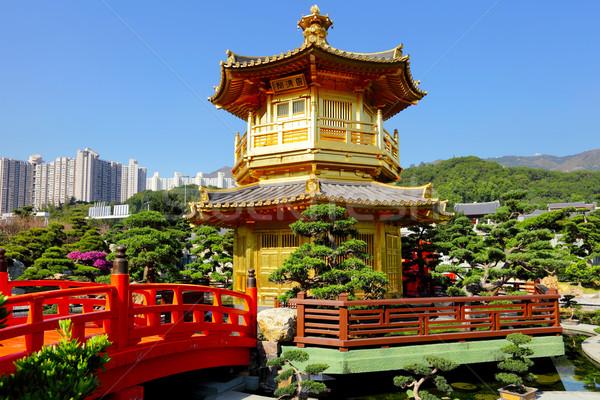 Chinese garden pavilion Stock photo © leungchopan
