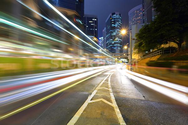 traffice through downtown in Hongkong Stock photo © leungchopan