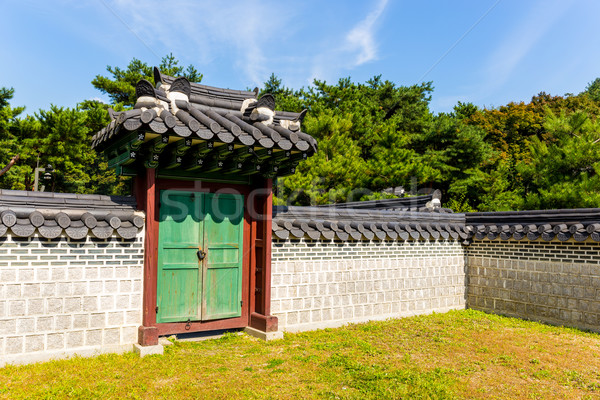 Ancient korean architecture Stock photo © leungchopan