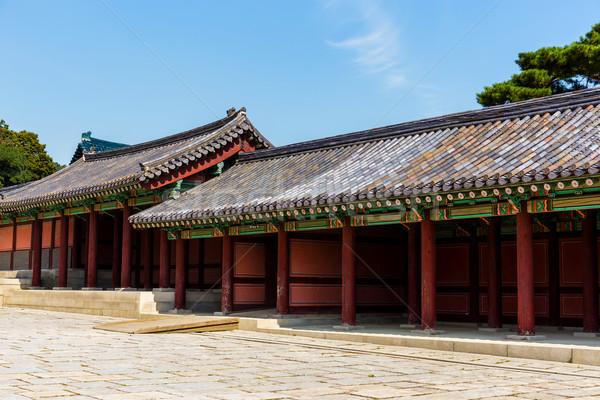 Starożytnych architektury domu budynku ściany projektu Zdjęcia stock © leungchopan