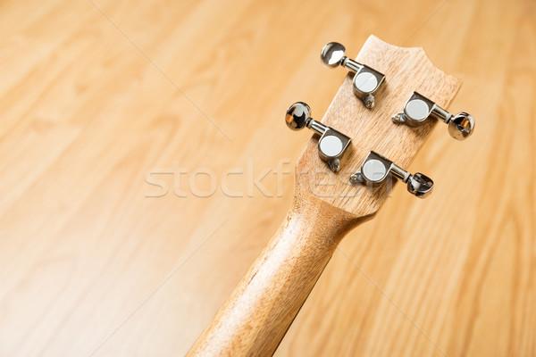 Headstock of Ukulele Hawaiian Guitar Stock photo © leungchopan