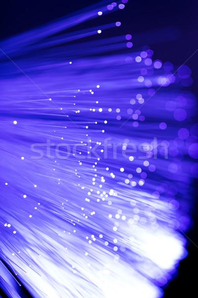 Włókno optyczny komputera tle niebieski nauki Zdjęcia stock © leungchopan