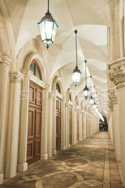 Сток-фото: старые · коридор · дома · город · стены · свет
