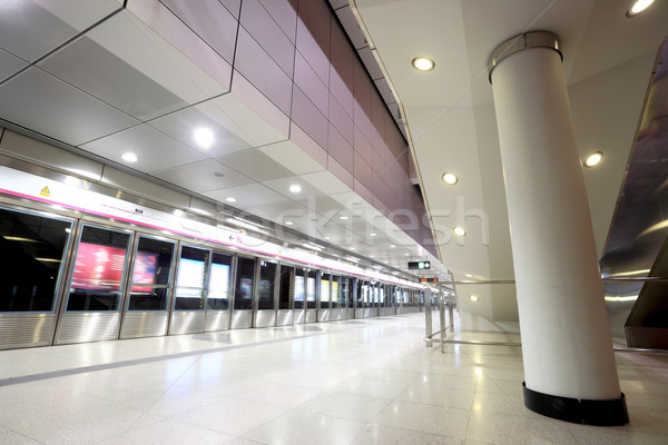 Hong Kong train station Stock photo © leungchopan