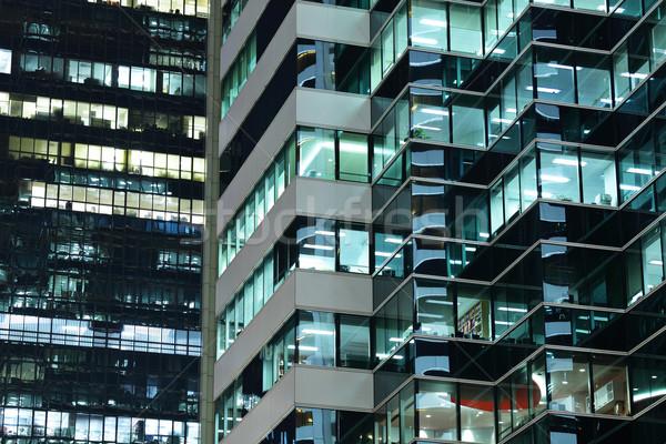 Kantoor gebouw werk abstract glas kamer Stockfoto © leungchopan