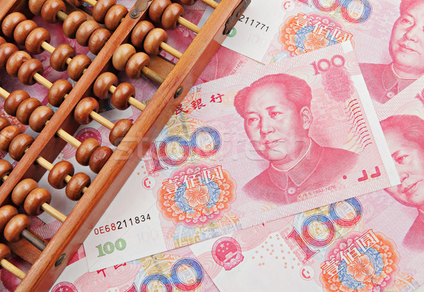 abacus and china money banknote Stock photo © leungchopan