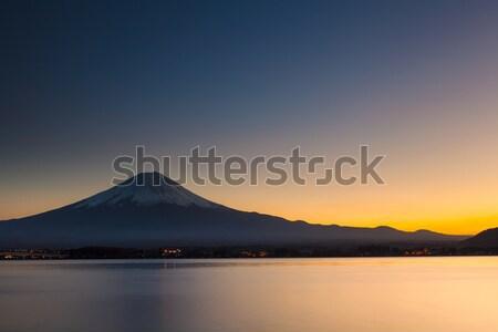 Mt. Fuji during sunset Stock photo © leungchopan