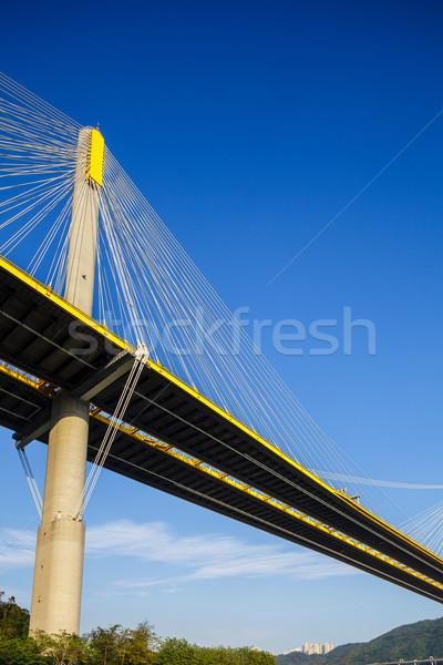 Puente colgante Hong Kong negocios edificio construcción paisaje Foto stock © leungchopan