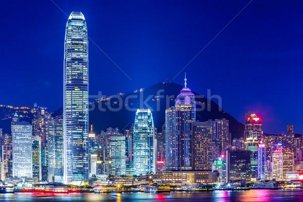 Hong Kong ciudad negocios edificio horizonte rascacielos Foto stock © leungchopan