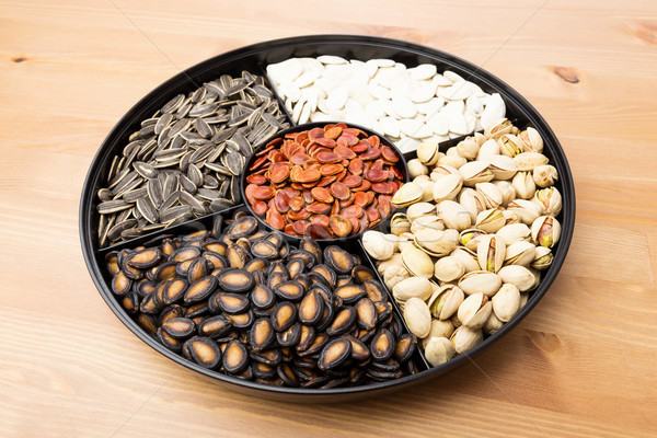 Snack tray for Lunar new year Stock photo © leungchopan