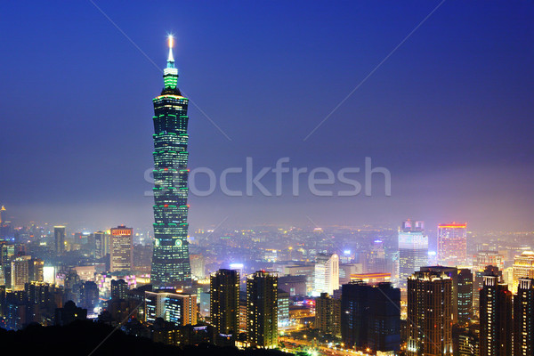 Taipei citsyscape at night Stock photo © leungchopan