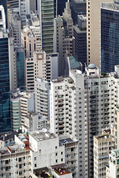 crowded building in Hong Kong Stock photo © leungchopan