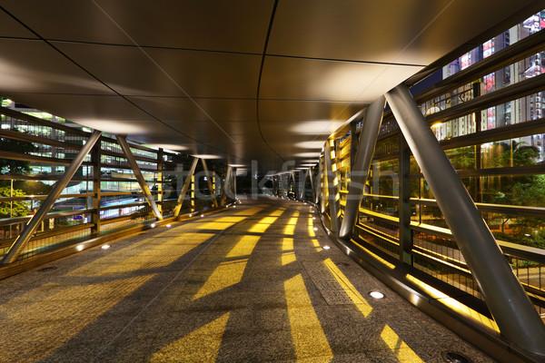 ночь тень здании свет улице моста Сток-фото © leungchopan