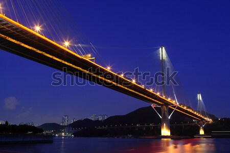 Ting Kau Bridge and Tsing ma Bridge at evening, in Hong Kong Stock photo © leungchopan