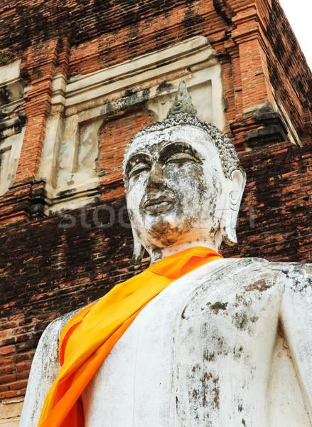 Ancient Buddha in Ayuthaya, Thailand Stock photo © leungchopan