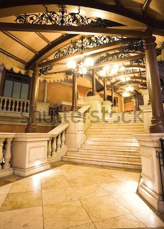 Stock photo: stair, italian building style