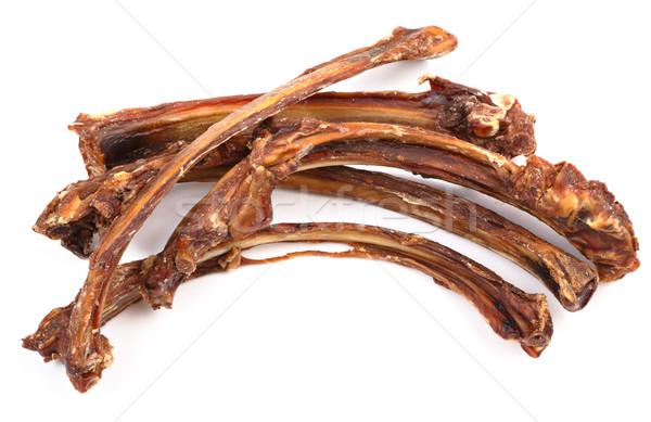 Drogen rib voedsel ruimte tanden Stockfoto © leungchopan