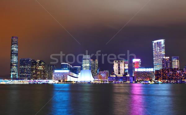kowloon at night Stock photo © leungchopan