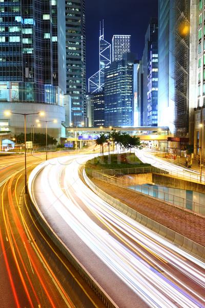 Megacity Highway at night Stock photo © leungchopan