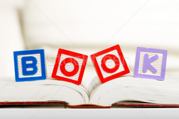 Leitura livro família diversão aprendizagem jogar Foto stock © leungchopan