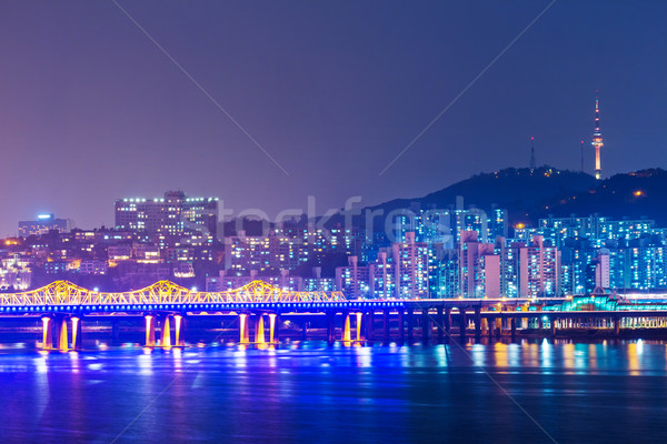 Seoul cityscape in South Korea Stock photo © leungchopan