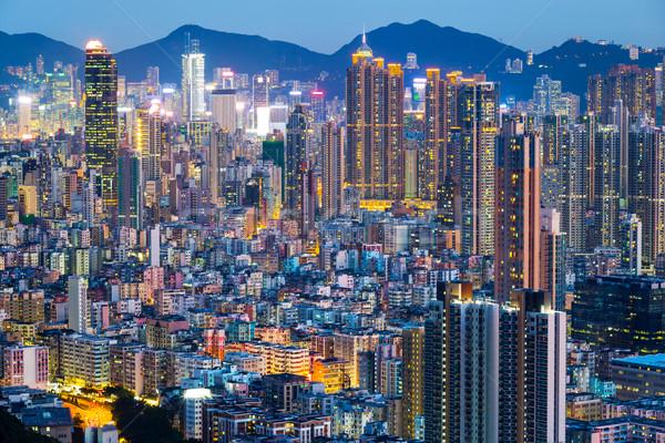 Hong Kong city at night  Stock photo © leungchopan
