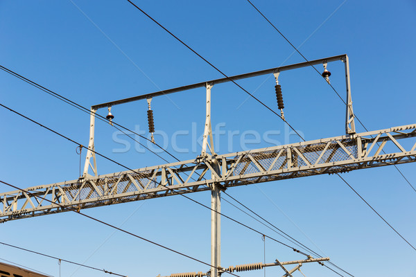 Train cable Stock photo © leungchopan