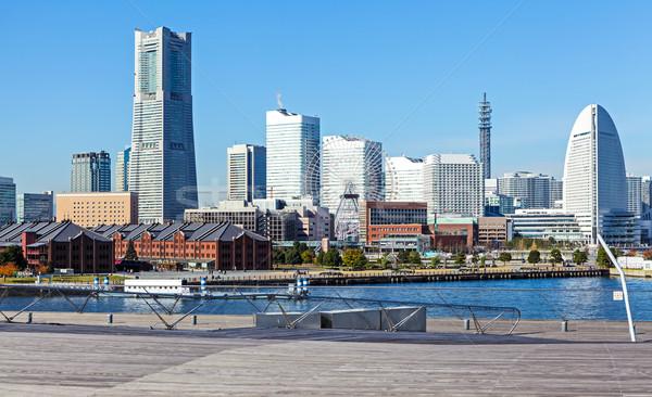 Иокогама Skyline здании город морем азиатских Сток-фото © leungchopan