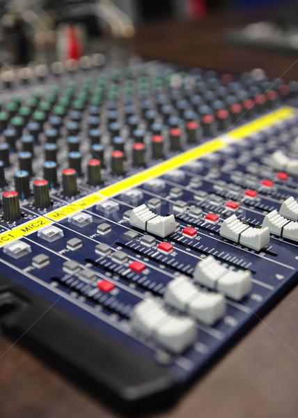 audio mixing console Stock photo © leungchopan