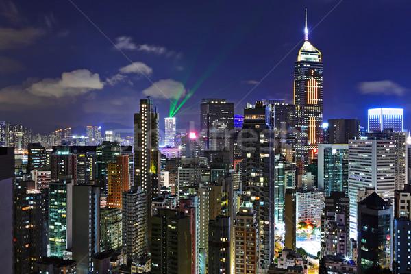 Hong-Kong nuit affaires route ville lumière Photo stock © leungchopan