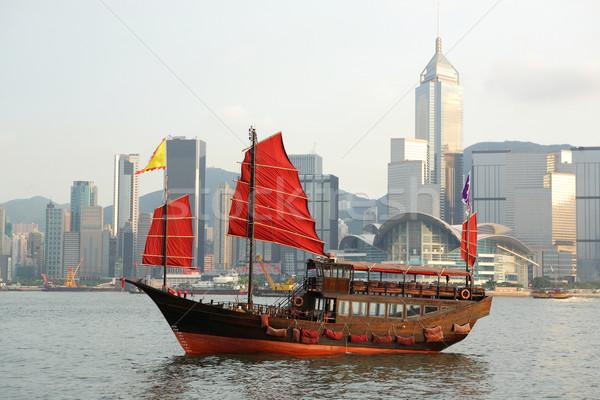 Foto stock: Barco · Hong · Kong · madera · paisaje · mar