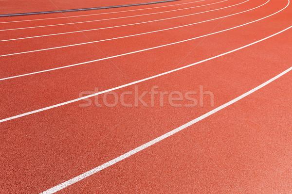 Red racetrack Stock photo © leungchopan