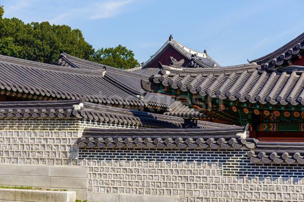 Tradycyjny architektury niebo budynku ściany projektu Zdjęcia stock © leungchopan