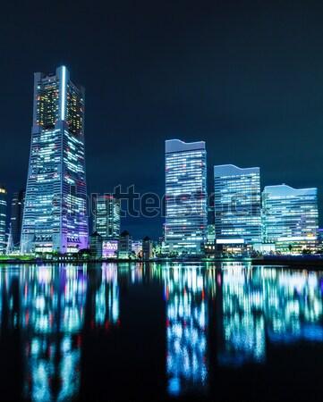Сток-фото: Иокогама · Skyline · бизнеса · здании · город · морем