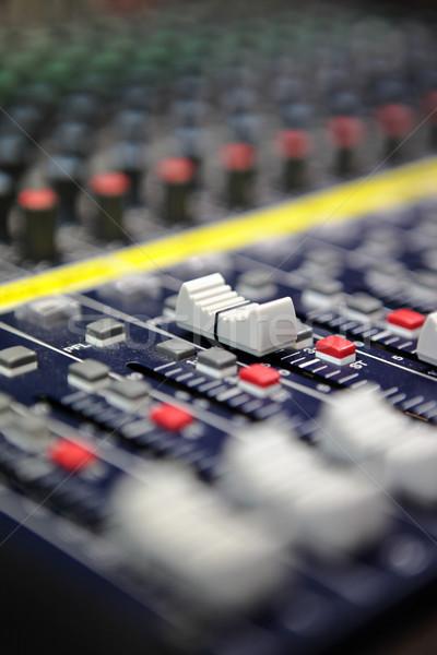 звук смеситель столе Gear студию совета Сток-фото © leungchopan