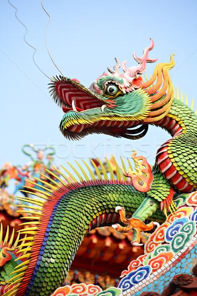 азиатских храма дракон поклонения архитектура китайский Сток-фото © leungchopan