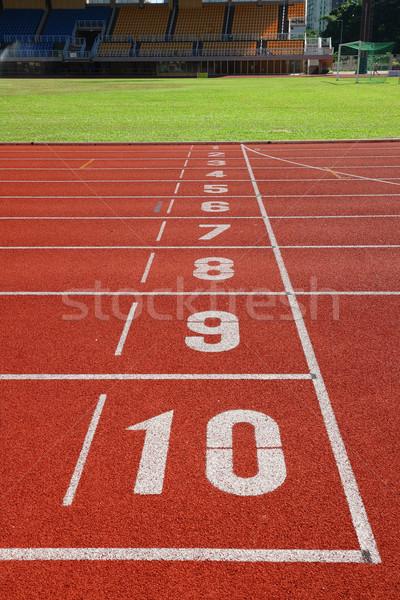 finish point on sport field Stock photo © leungchopan
