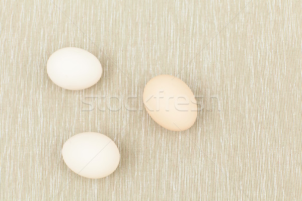 Huevos naturaleza cocina tejido desayuno cocina Foto stock © leungchopan