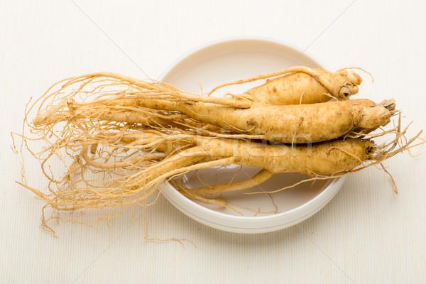 Cuisine ginseng alimentaire médecine blanche Asie Photo stock © leungchopan