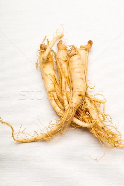свежие женьшень изолированный белый продовольствие Азии Сток-фото © leungchopan