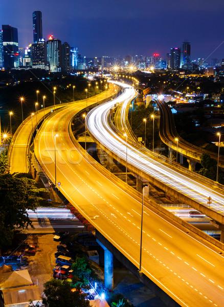 Kuala Lumpur gece iş gökyüzü ofis şehir Stok fotoğraf © leungchopan