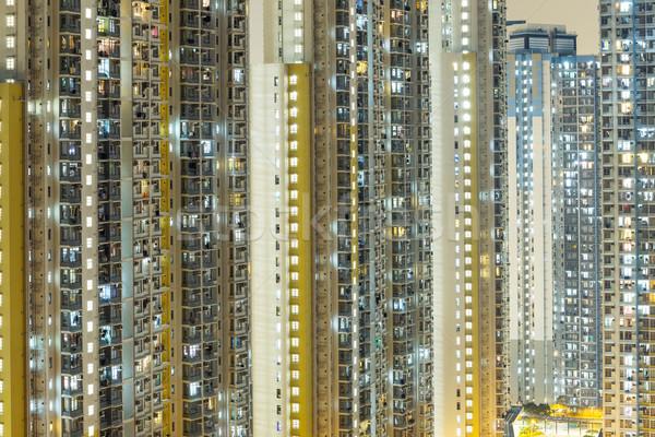 Exterior of residential building in Hong Kong Stock photo © leungchopan