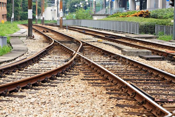 Trilho estrada carta futuro aço seguir Foto stock © leungchopan